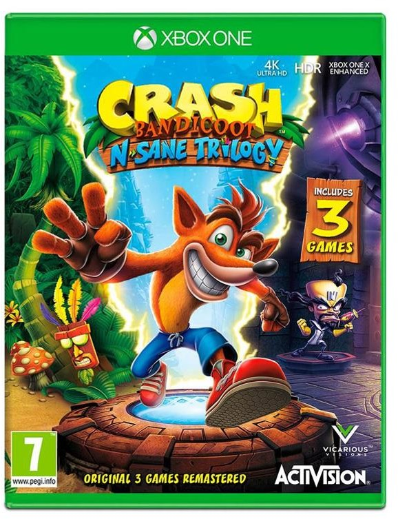 Crash Bandicoot N Sane Trilogy (GRA XBOX ONE)