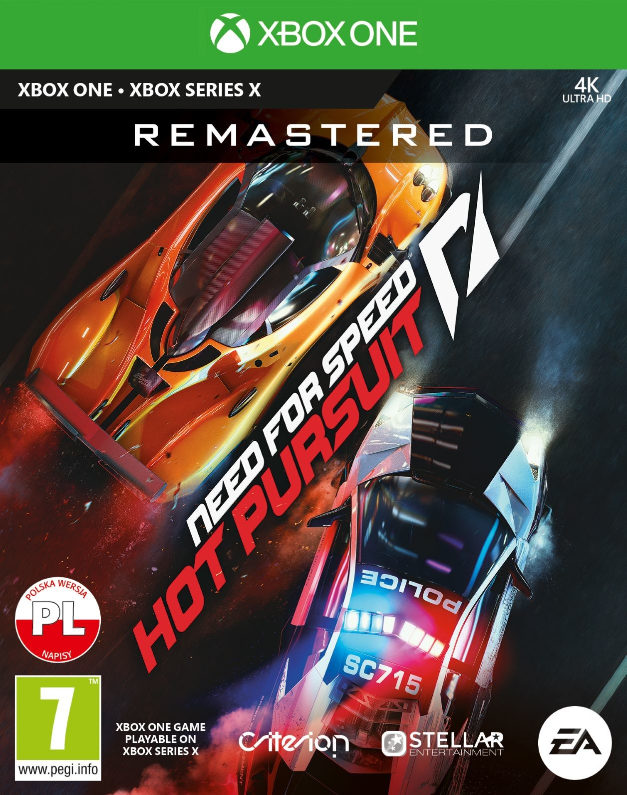 Need For Speed Hot Pursuit Remastered (GRA XBOX ONE / XBOX SERIES X)