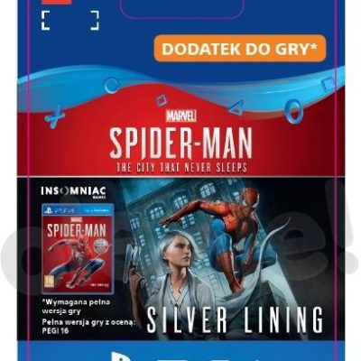 Marvels Spider-Man The City Never Sleeps Silver Lining DLC (GRA PS4) wersja cyfrowa