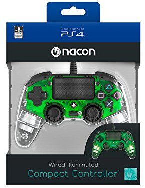 nacon accessori plays TAT ion4 NACON kontroler PS4 NACON CLEARGREEN LED Filo PS4OFCPADCLGREEN