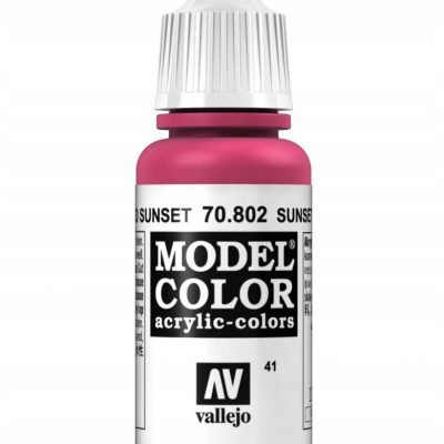 Vallejo 70802 Model Color 17 ml Sunset Red 70.802
